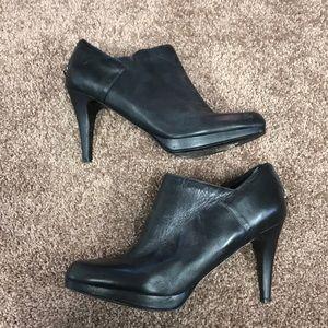 Stiletto black ankle boots